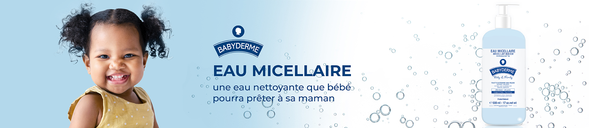 header eau micellaire babyderme